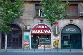 Turkish sweets shop on Magheru Boulevard