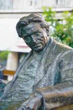 Statue of George Enescu on Magheru Boulevard