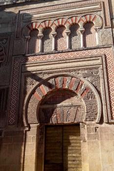Detaliu exterior al catedralei Mezquita din Córdoba
