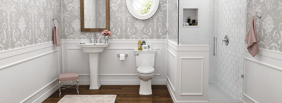 How To Turn A Small Bathroom Into A Perfect Powder Room