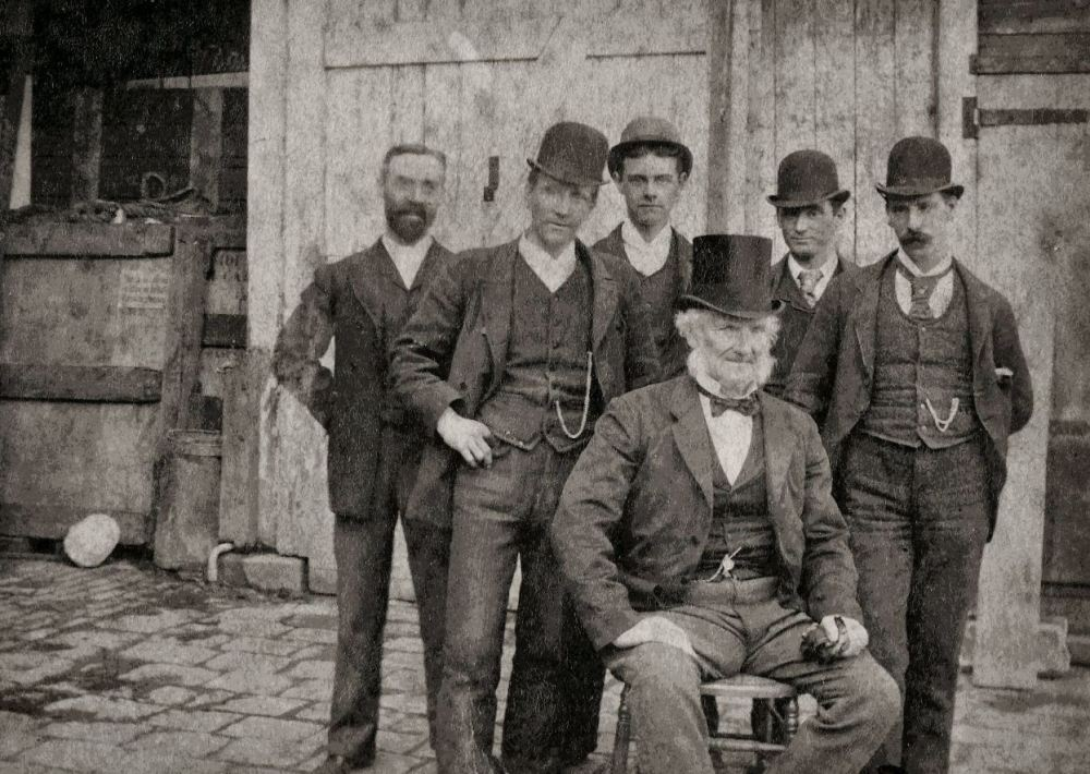 1890: Curzon Street, Ferguson & Urie Employees circa 1890.  (1/2)