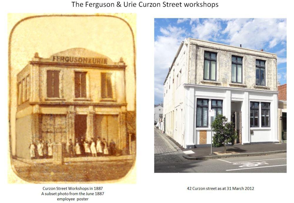 1890: Curzon Street, Ferguson & Urie Employees circa 1890.  (2/2)