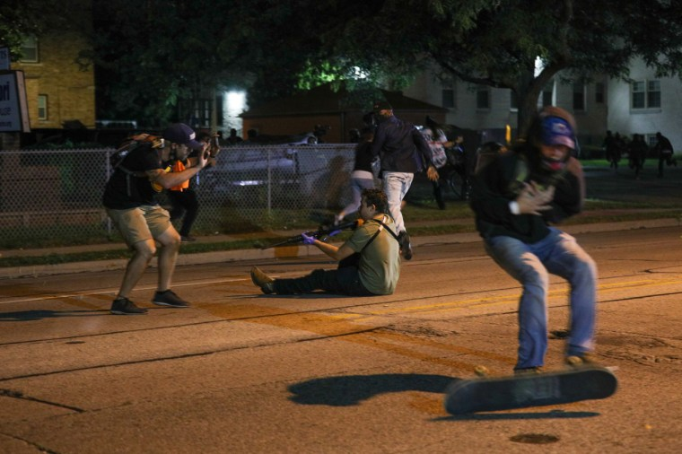 The shooter open fire on unarmed, peaceful protesters.