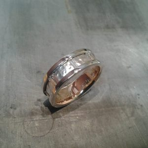 custom white gold wedding band