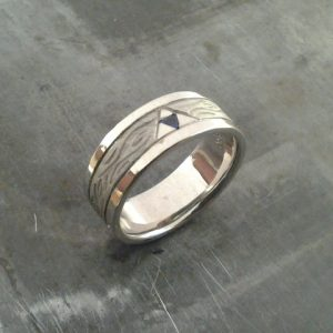 custom legend of zelda wedding band side view