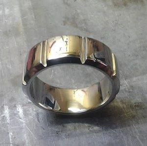 custom white gold wedding ring top view