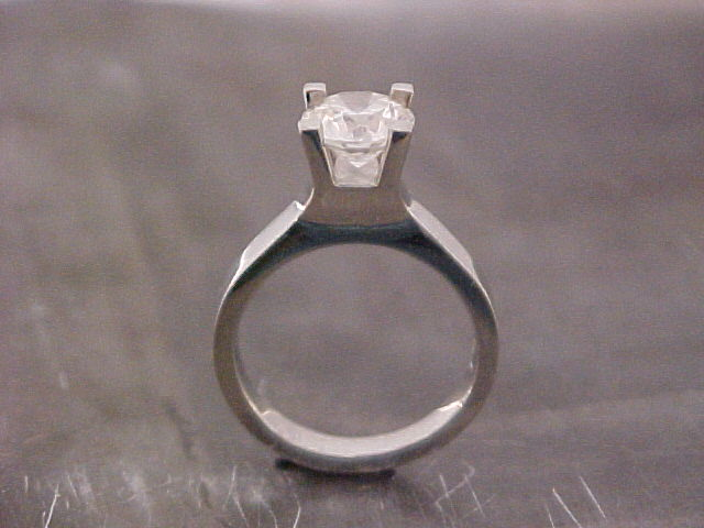 diamond 14k white gold engagement ring by sean ferguson