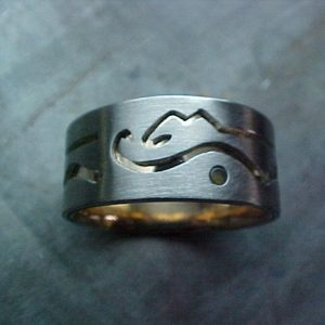 Calgary inspired custom wedding ring for the calgary stampede