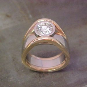 floating bezel engagement ring