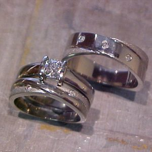 matching custom wedding rings