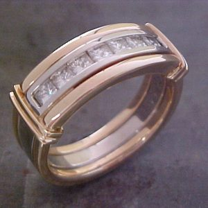 gold and diamond wedding band