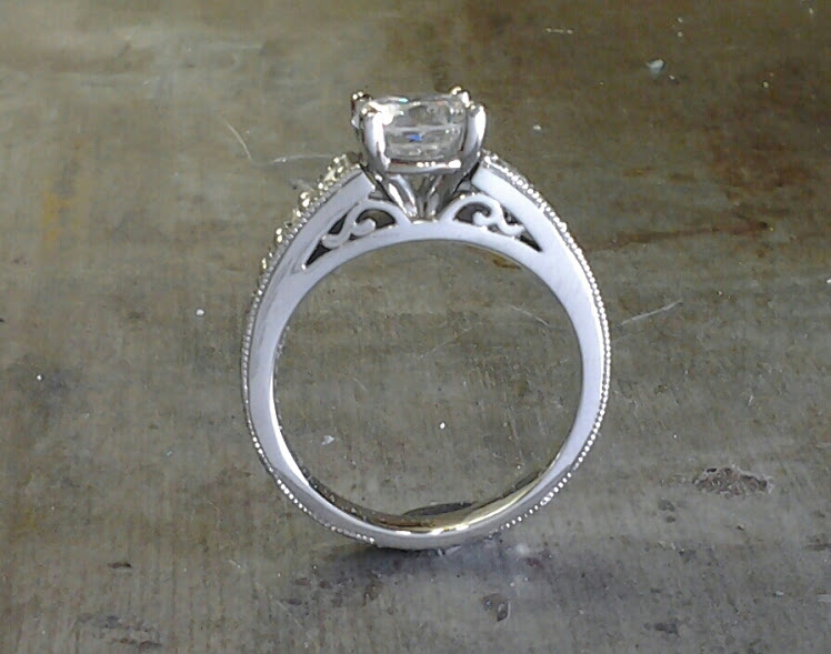 filigree 19k engagement ring