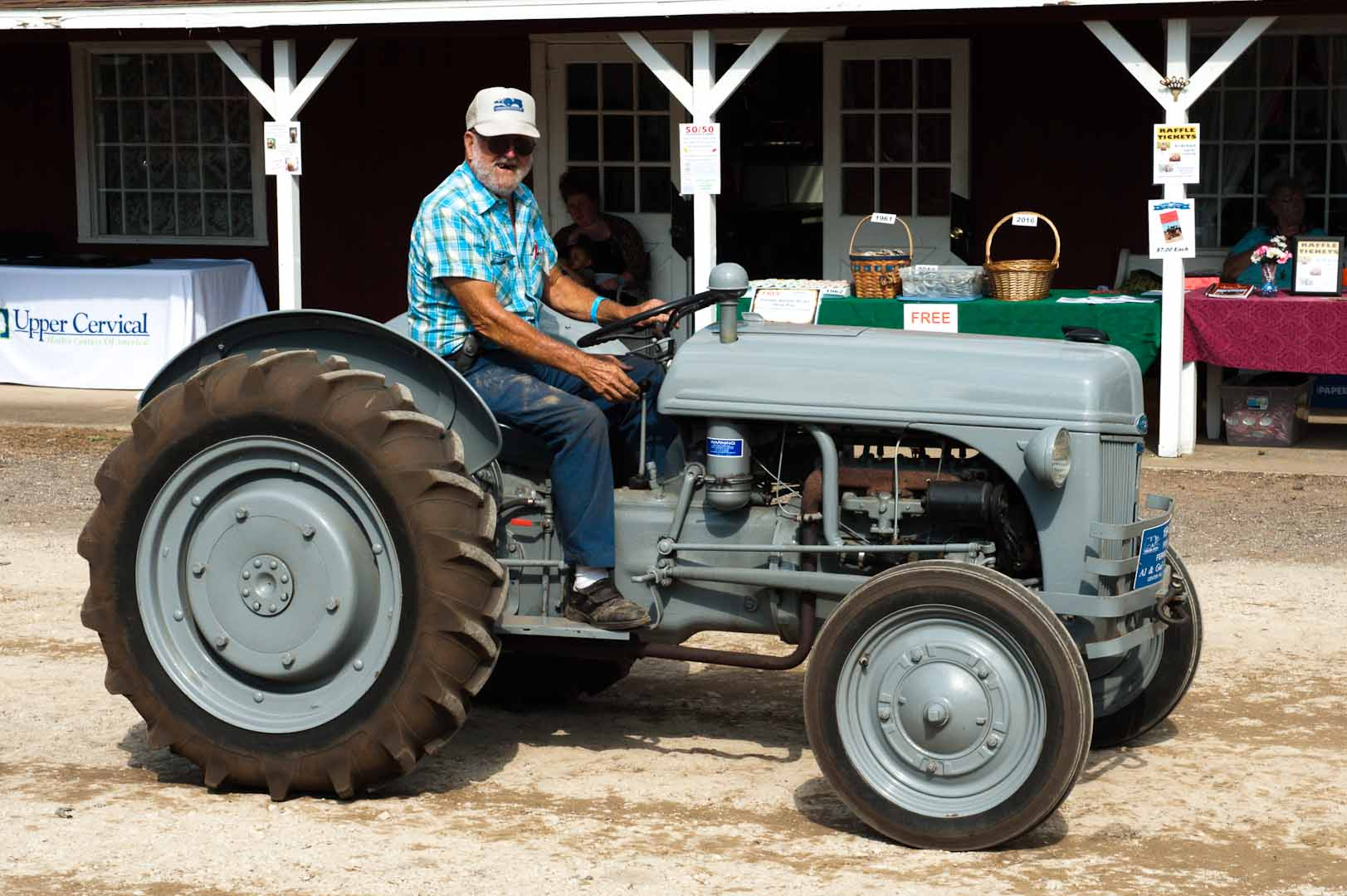 hight resolution of al hoyt driving his 1946 ford 9n
