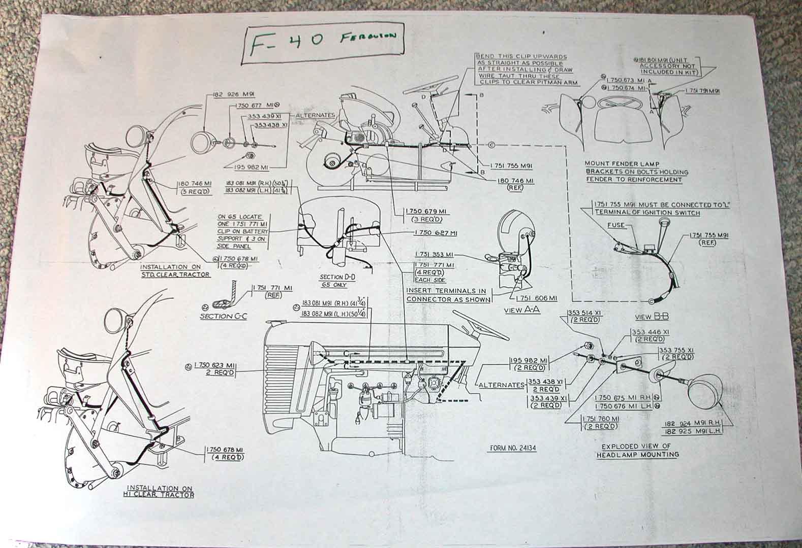 wiring diagram for harry ferguson fuse box \u0026 wiring diagrambarn find  ferguson to35 electrical help