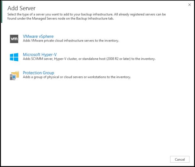 Veeam Backup & Replication v9.5 Update 4 (Hyper-V Server) Host Ekleme