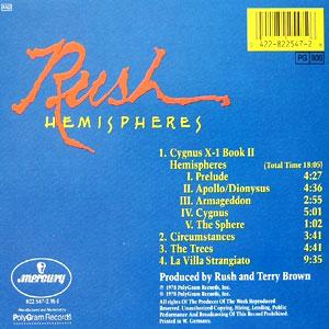Resultado de imagen para Rush llamado Hemispheres.