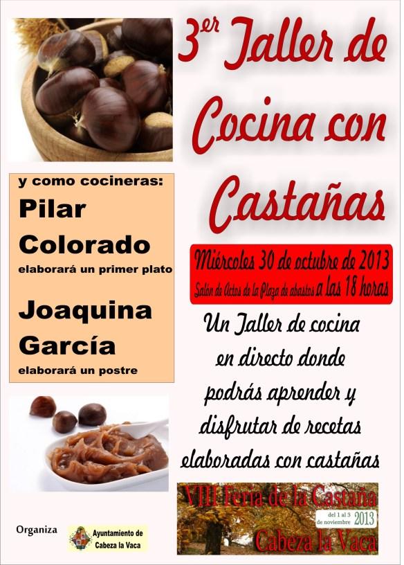 Taller de cocina  Feria de la Castaa de Cabeza la Vaca