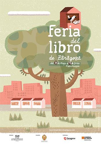 Cartel  Feria del Libro de Zaragoza