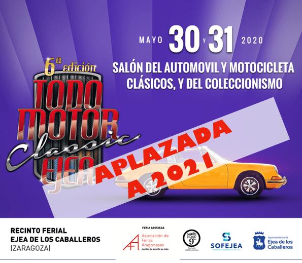 Todomotor Classic Ejea, aplazada a 2021