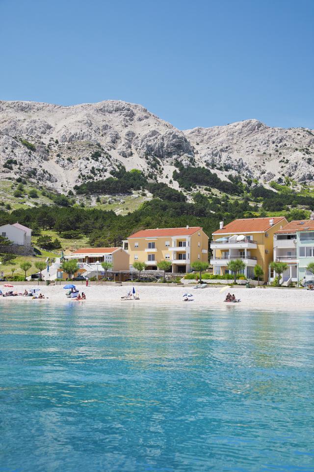 Ferienwohnung in Baska Insel Krk mit Meerblick