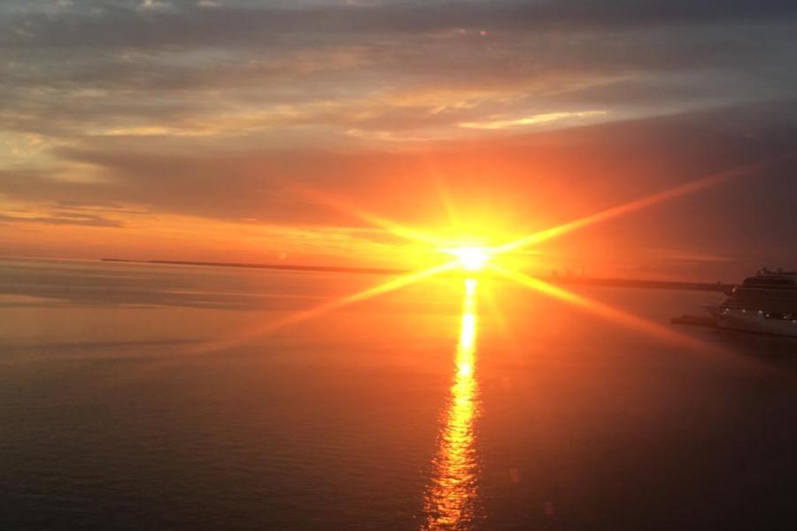 Sonnenuntergang, Ostsee, Usedom