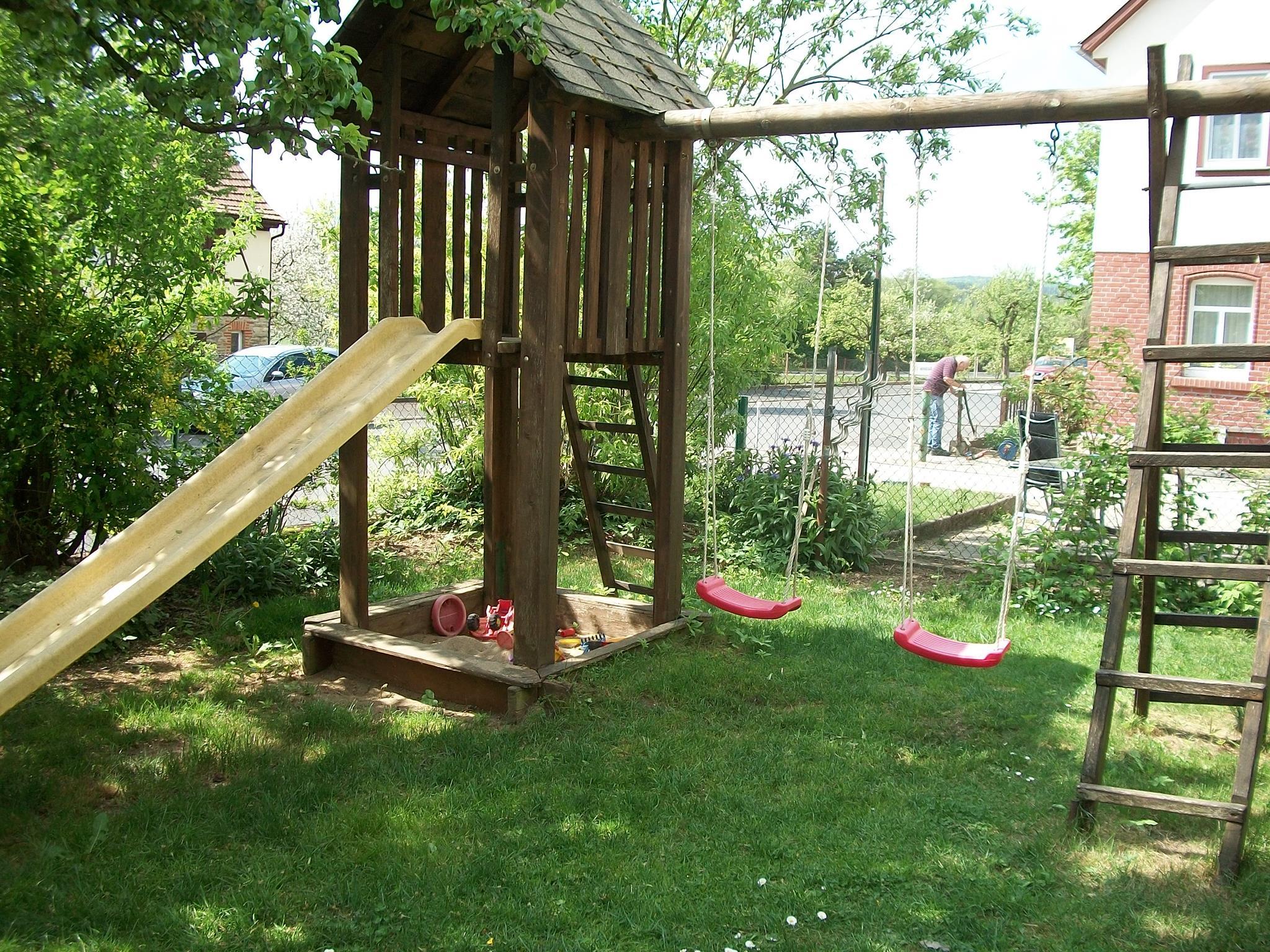 Katzen Spielplatz Garten Selber Bauen Holzschaukel Kinder Schaukel