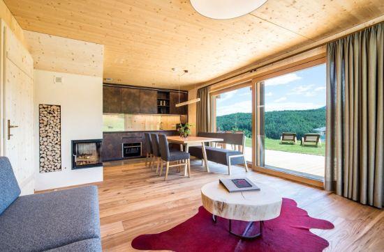 Wohnbereich im Roter Hahn, Ferienresidenz, Südtirol © Thomas Grüner