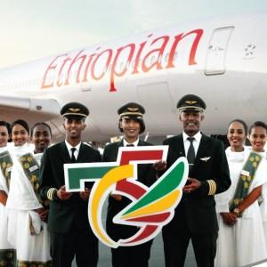 Ein Lächeln zum Geburtstag: Die Ethiopian Airlines feiert das 75-Jahr-Jubiläum. © Ethiopian Airlines