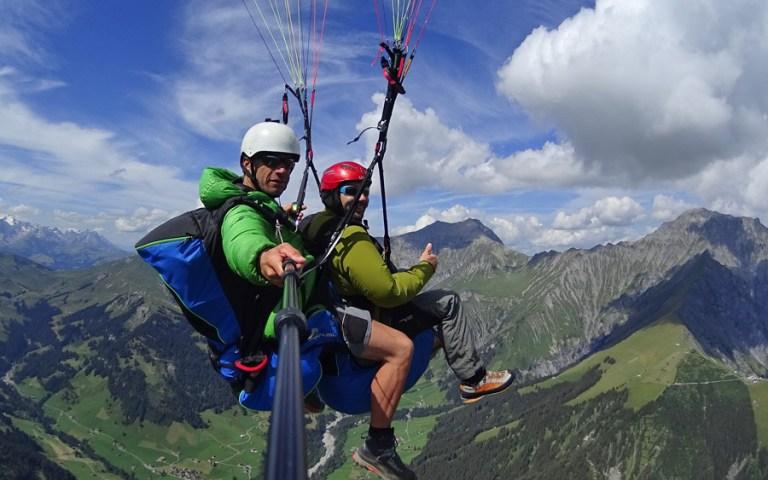 Paragliding Tschentenalp