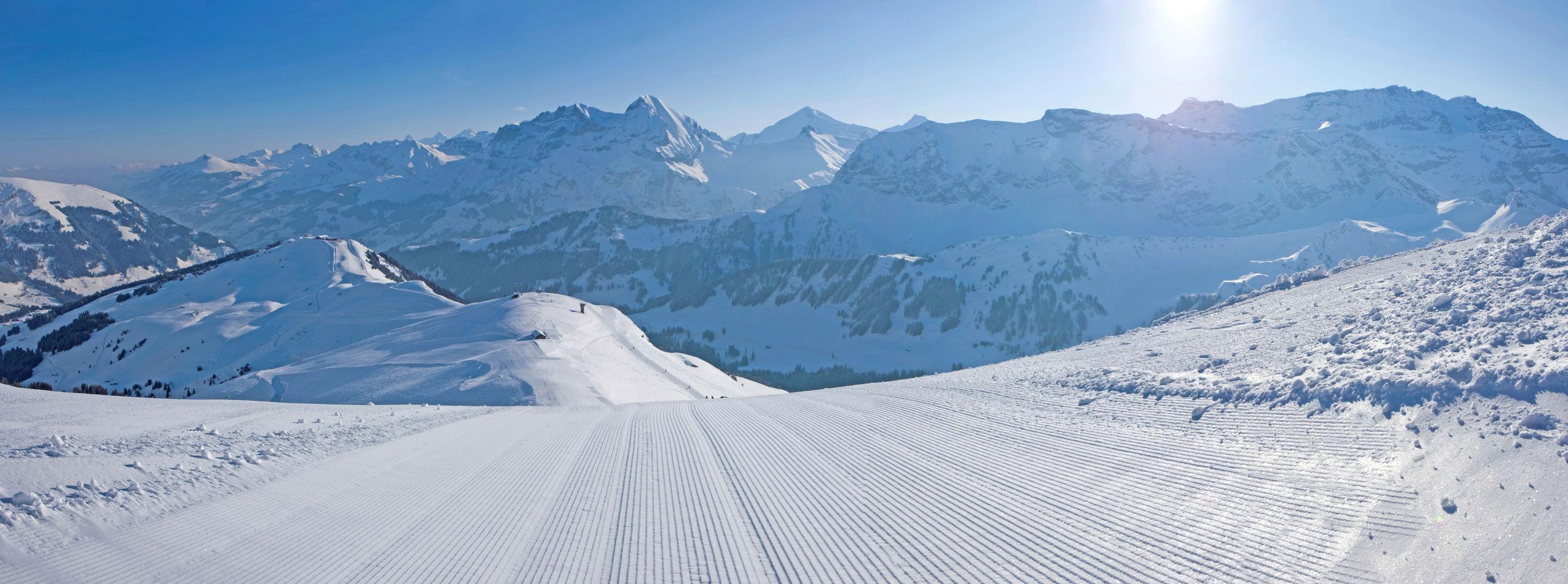 Skipiste Adelboden Berner Oberland