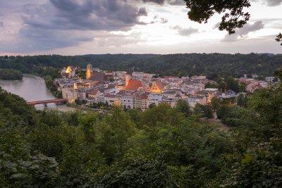 Blick auf die Altstadt von Wasserburg
