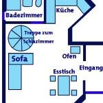 Grundriss des Untergeschosses