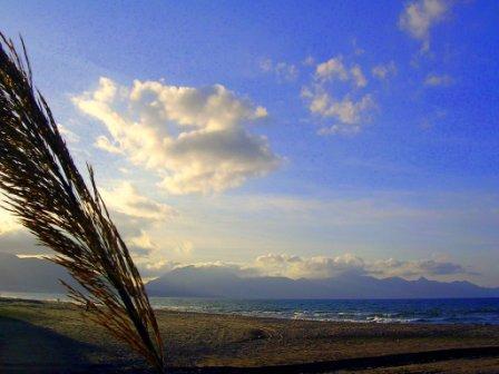 der Strand von Balestrate im November