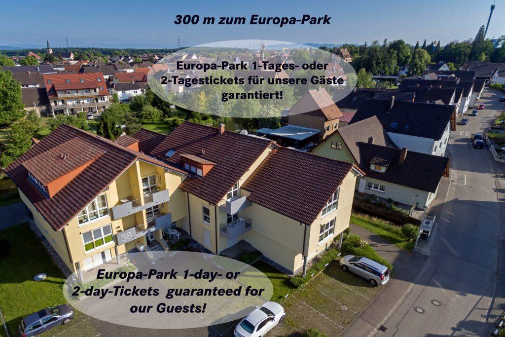 Unsere Gäste erhalten garantiert 1- oder 2-Tagestickets für den Europa-Park.