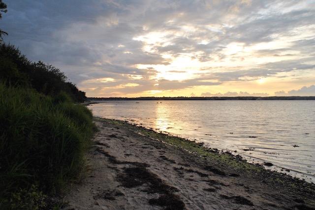 Sonnenuntergang am Strand von Holnis, ganz in der Nähe der Ferienwohnung