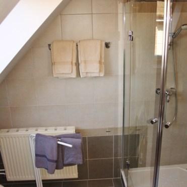 Duschkabine in der Ferienwohnung