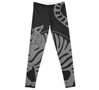 Gray Tabby Cat - tiger stripe Leggings