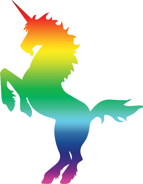Rainbow Unicorn Silhouette