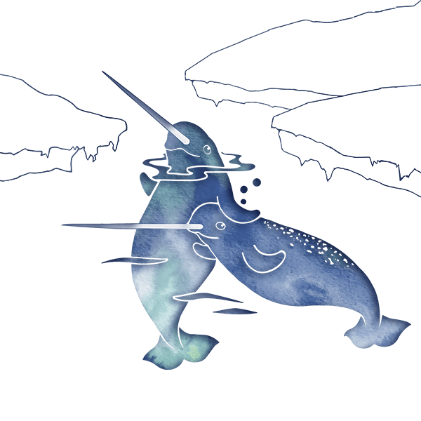 Blue Sea Narwhals