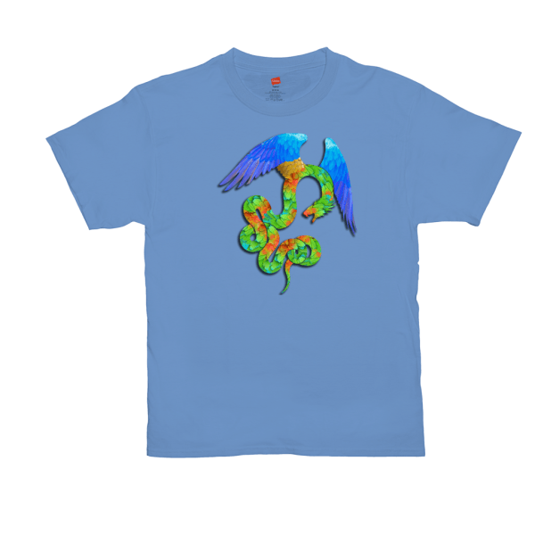 Aztec Angel T-shirt - light blue