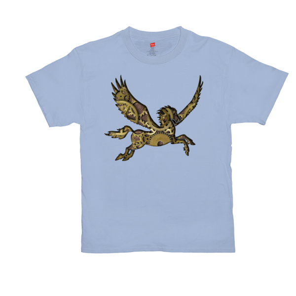 Clockwork Pegasus T-shirt - blue