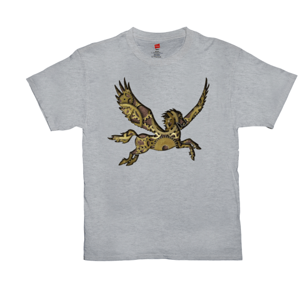 Clockwork Pegasus T-shirt - light steel
