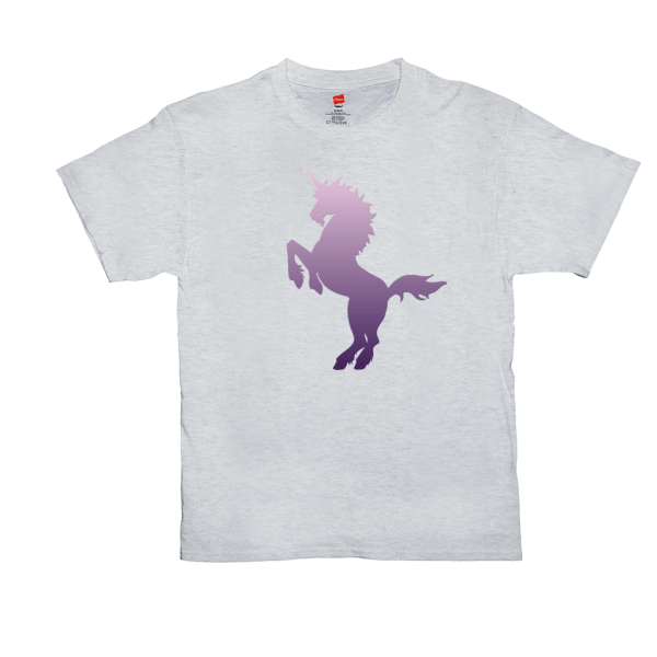 Purple Unicorn T-shirt - ash