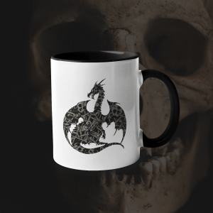 Necromancy Dragon Accent Mug