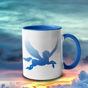 Blue Sky Pegasus Accent Mug