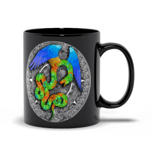 Aztec Halo 11oz black mug