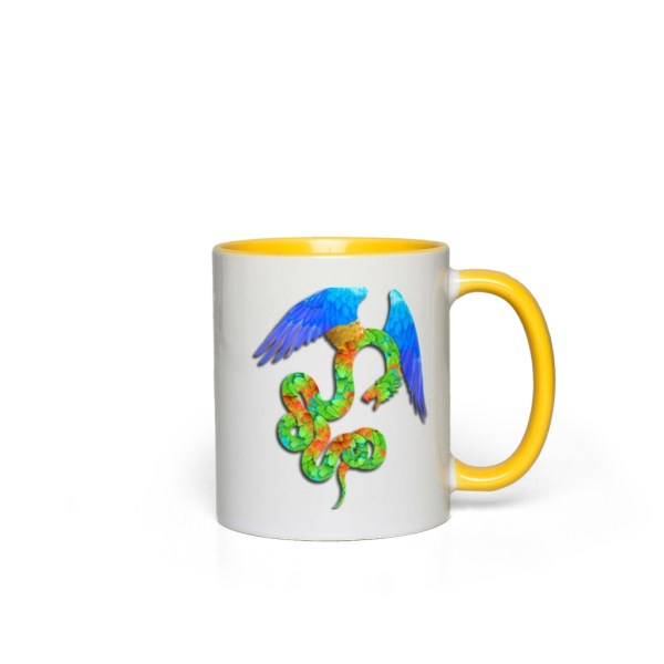 Aztec Angel Accent Mug - yellow