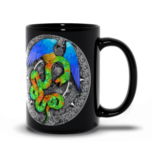Aztec Halo 15oz black mug