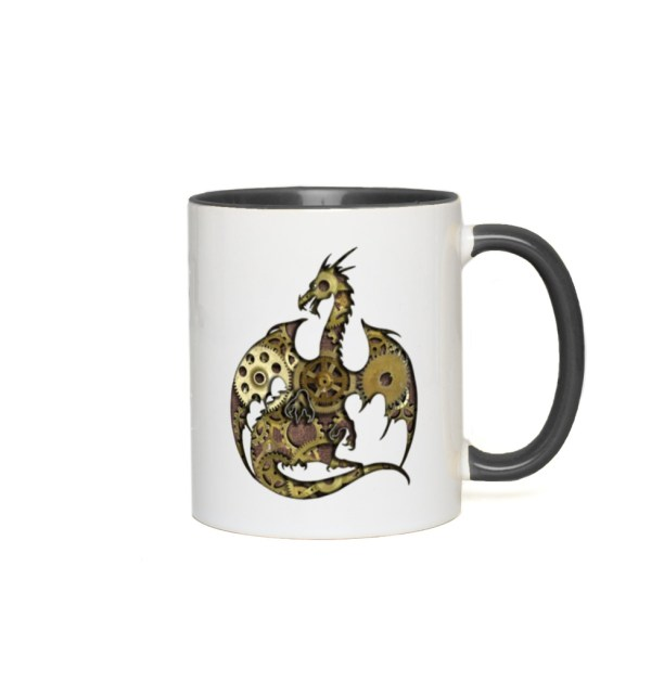 Clockwork Dragon Accent Mug