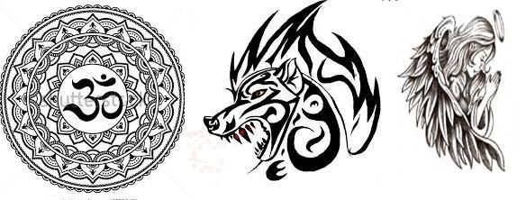 Tatuazhi zhi dhe vizatimet nga kana si art trupor